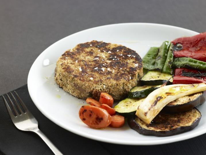 hamburguesa de tofu amb verdures